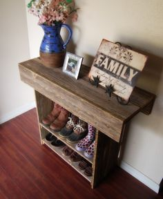 Console Table. Wood Entry Way or Wall Table 36 x 12 x 30 Wall Table Runner. totally could make this on the super cheap