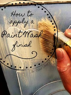 How to apply a paint wash finish. Today's post will explain how to apply a paint wash to soften a color and create subtle dimension in the painted finish. Chalk Paint Furniture, Hand Painted Furniture, Refurbished Furniture, Repurposed Furniture, Shabby Chic Furniture, Rustic Furniture, Furniture Makeover, Furniture Design, Funky Furniture