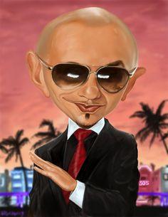 Caricatura de Pitbull