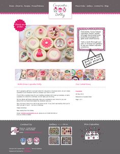 Website Design and Development Portfolio - Cupcake Dolly
