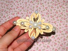 Quilling art Barrette Set of 3 Hair Jewelry Quilled hair clip Stylish hair… Paper Quilling Tutorial, 3d Quilling, Quilling Jewelry, Quilling Patterns, Quilling Designs, Quilling Ideas, Paper Bead Jewelry, Paper Beads, Paper Art