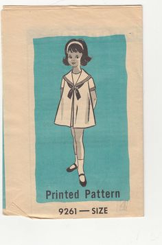 Vintage 60s Mail Order Sewing Pattern CHILDS Dress by HoneymoonBus, $8.99