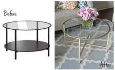 Coffee table for the new place? Olive Lane: Ikea Hack : Vittsjo Coffee Table