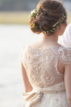 beaded wedding dress detail, photo by The Click Chick Photography http://ruffledblog.com/notwedding-charleston #weddingdress #bridalfashion
