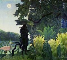 Henri Rousseau: Serpent charmer (1907)