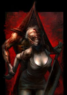 Pyramid Head & Nurse  This is an awesome sexy picture of the two O: