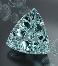 """American gem carver Michael Dyber won the grand prize in a prestigious gemstone cutting competition in Idar-Oberstein, Germany, for this 113.24-ct aquamarine."""