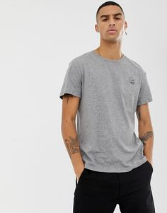 4fbdeb57fcf37 Cheap Monday small logo t-shirt in gray