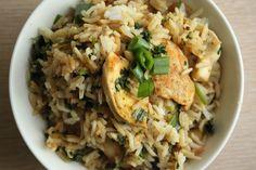 Nem aftensmad med kylling og stegte ris | Easy-to-make chicken and fried rice
