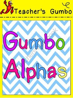 Gumbo Bright Alpha Letters Clipart from Teacher's Gumbo on TeachersNotebook.com -  (52 pages)  - Bright Letter Clipart