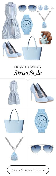 """Untitled #37"" by cartman-hannah on Polyvore featuring Milly, Miu Miu, Kate Spade, Nixon, Christian Dior, Amour, summercamp and 60secondstyle"
