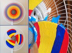 Pintar un ventilador de Colores