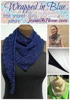 This quick crochet shawl is a great accessory. Wrapped in Blue - Media - Crochet Me