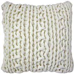 Knitting Patterns Pillow A lattice of soft cream fabric makes the Hygge Cream Chunky Knit Pillow a wonderful, neutral pillow . Knit Pillow, Cotton Pillow, Throw Pillow Sets, Throw Pillows, Decor Pillows, Couch Pillows, Neutral Pillows, Chunky Knit Throw, Knitted Throws