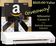 Silhouette Cameo 3 and Amazon Giftcard Giveaway
