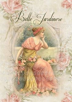 Large digital download Belle Jardinere by CottageRoseGraphics, $3.75