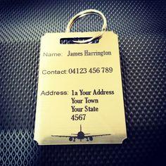 Luggage Tag- Personalised Travel tags- flight tags-50mmX80mm -baggage tag