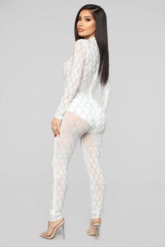 9896738ff61 Illuminate The World Rhinestone Jumpsuit - White