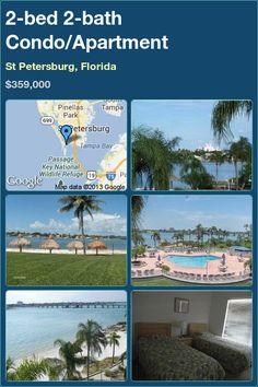 2-bed 2-bath Condo/Apartment in St Petersburg, Florida ▻$359,000