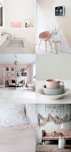 make me blush (Bloesem) Blush tones are a great way of adding a warm light into your home.Blush tones are a great way of adding a warm light into your home. Interior Inspiration, Room Inspiration, Home Interior, Interior Decorating, Pastel House, Living Spaces, Living Room, Deco Design, Home And Deco