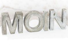 4 deko buchstaben beton moin stein garten trend