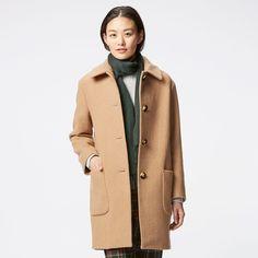 WOMEN Wool Blended Cocoon Coat