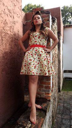 Cherry Bomb Girl. Pin Up. Vintage fashion.