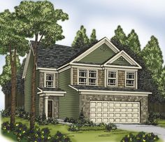 Narrow Lot Plan: 2,095 Square Feet, 4 Bedrooms, 2.5 Bathrooms - 009-00125