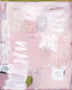 Sylvia Mcewan - Pink Field With Green Edge