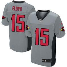 Limited Michael Floyd Mens Jersey - Arizona Cardinals 15 Grey Shadow Nike NFL