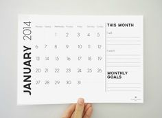 Modern & minimal downloadable calendars for 2014 - Design Hunter - UK design & lifestyle blog
