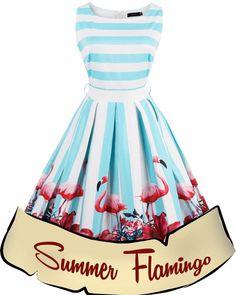 Summer Flamingo Retro Dress