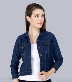 Jackets Classic Ravishing Women Jackets & Waistcoat Fabric: Denim Sleeve Length: Long Sleeves Pattern: Solid Sizes:  S (Bust Size: 34 in, Length Size: 20 in)  XL (Bust Size: 40 in, Length Size: 20 in)  L (Bust Size: 38 in, Length Size: 20 in)  M (Bust Size: 36 in, Length Size: 20 in)  Country of Origin: India Sizes Available: S, M, L, XL   Catalog Rating: ★4 (434)  Catalog Name: Trendy Fashionista Women Jackets & Waistcoat CatalogID_2729986 C79-SC1023 Code: 992-13831938-096