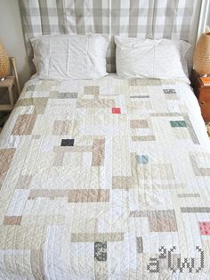 Neutral quilt...