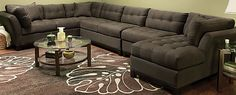 This is my couch now, the Cindy Crawford Metropolis in Slate. I have to say we get TONS of compliments on this couch. We went with 3 pieces to make an L shape. It is the most comfortable couch ever #RFbloggers