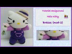 Tutorial amigurumi Hello Kitty - Brazos (mod-2)