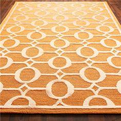 Indoor Outdoor Carved Ellipse Rug: Shades of Light