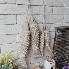 2 шт./компл. Средиземноморский Стиль Деревянный Подвесной Рыбы Деревни Украшены И Ремесла Животных Стены…