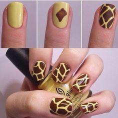 Nails Art - Giraffe print!