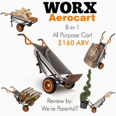 WORX Aerocart 8-in-1 Ultimate Cart Giveaway 10/20 US - Tales From A Southern Mom