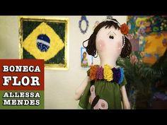 BONECA EM FELTRO - YouTube