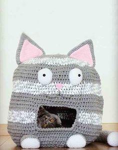 DIY Crochet Cat House Pattern