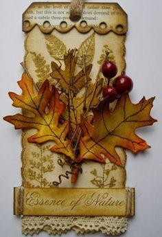Autumn leaves tag