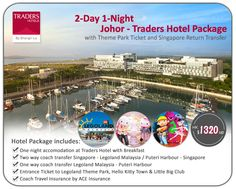 2-Day 1-Night Johor - Traders Hotel Package with Theme Park Ticket and Singapore Return Transfer - HK$1320up/person http://www.asiatravelcare.com/mktg/20140901_Johor_Traders_Legoland-eng.htm