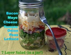 Grandma Nanny's 7 Layer Salad
