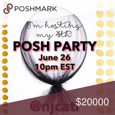 🎉🎉🎉Let's PARTY!!🎉🎉🎉 Join me on Monday, June 26 when I host! Party will be 10pm EST. Theme and cohosts to be announced, but like this listing to stay updated! Thanks everyone :) feel free to tag and share! Other