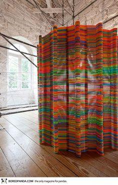 Hangers Into Room Divider-15 Creative Ways to Repurpose