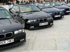 BMW E36 3 series black lineup