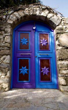 Foldaway Tote - Blue Door ~ Paris by VIDA VIDA mpEx36