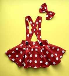Minnie Mouse birthday outfit Red Pink polka dots criss cross suspenders circle SKIRT ONLY, with a matching hairbow, Baby infant toddler girl Disfraz Minnie Mouse, Minnie Mouse Birthday Outfit, Pink Polka Dots, Little Darlings, Leotards, Pink And Gold, Hair Bows, Toddler Girl, Sewing